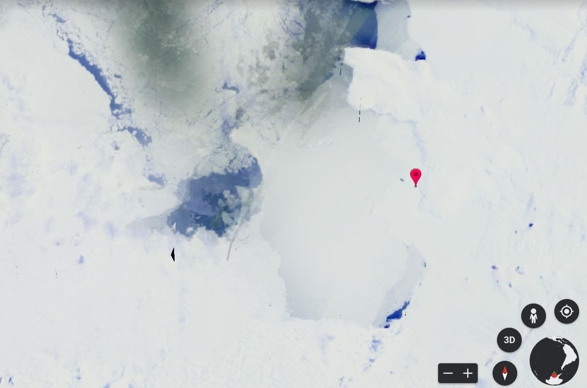 image of Pine Island Glacier, Antarctica in 1984
