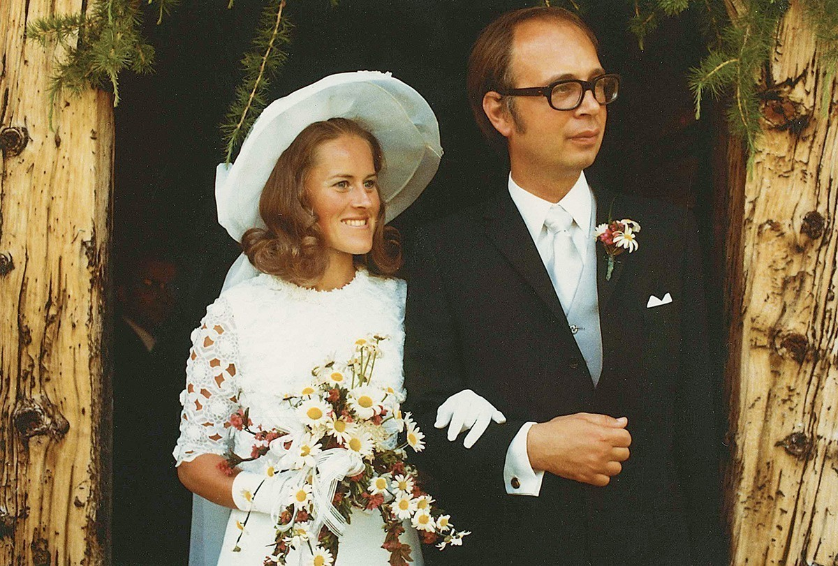 Hilde and Klaus Schwab on their wedding day in 1971