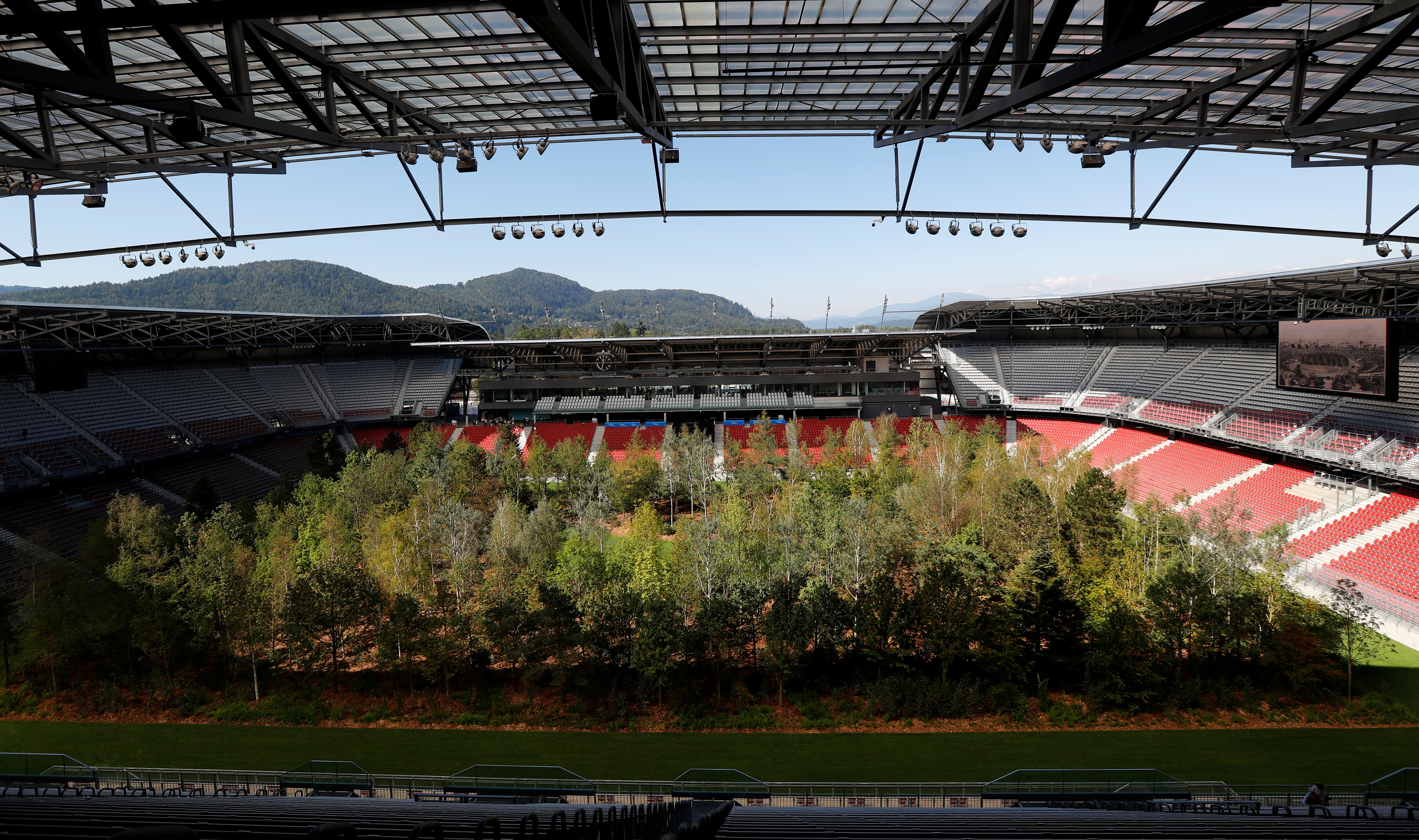 About 300 trees have been installed at Wörthersee Stadium in Klagenfurt.