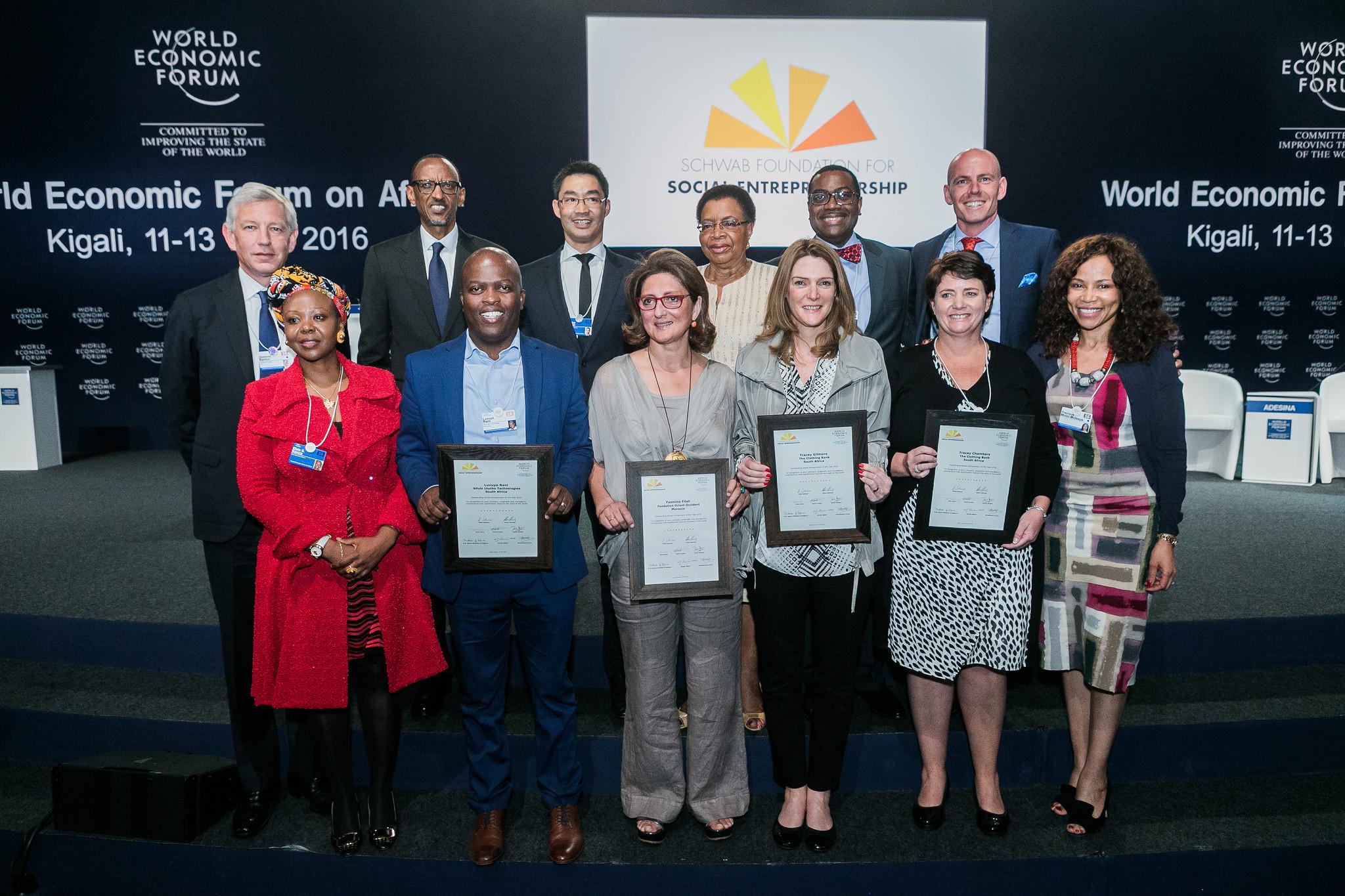 Awardees at the World Economic Forum on Africa 2016 in Kigali, Rwanda