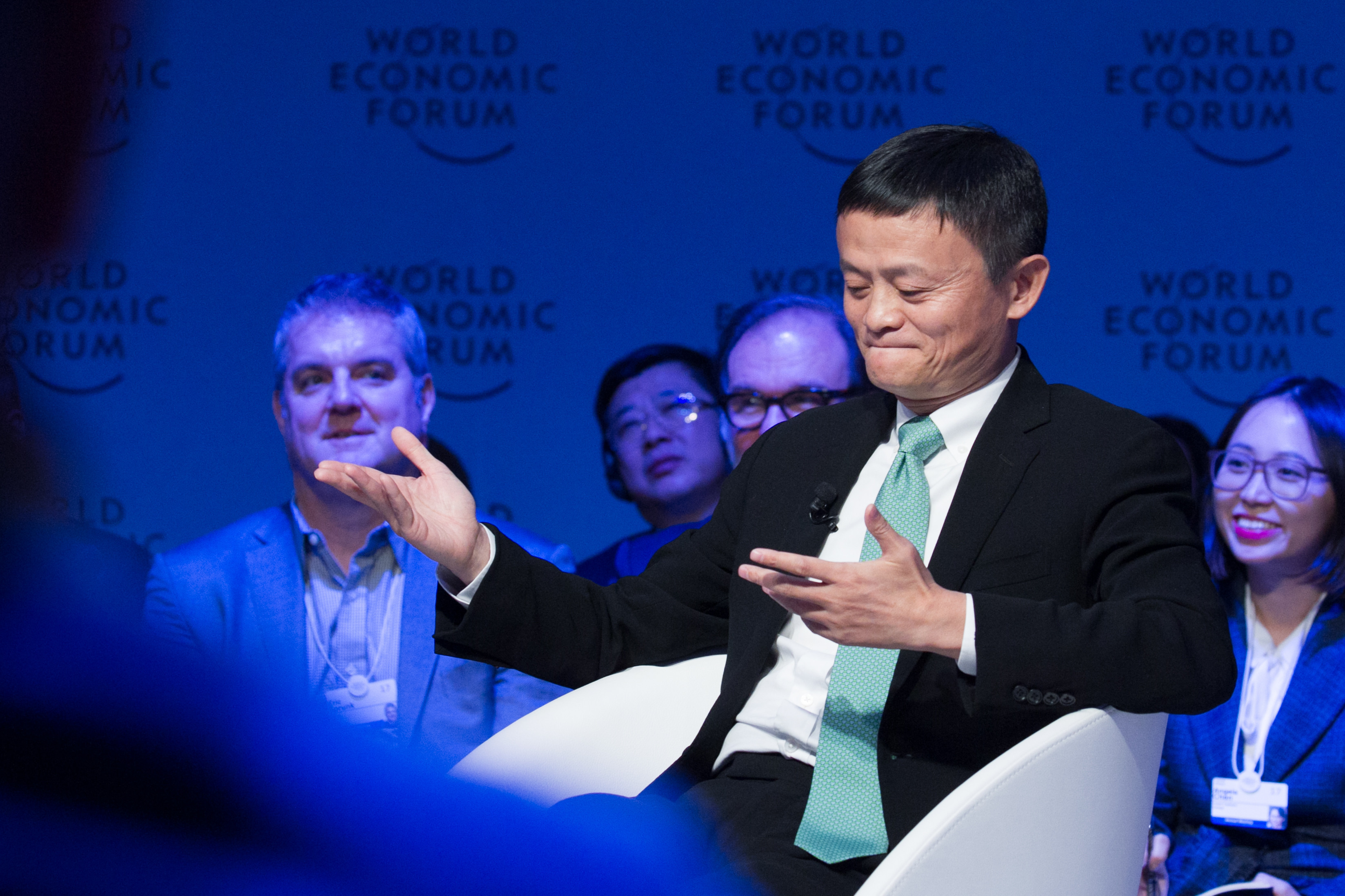 Jack Ma, Executive Chairman of Alibaba Group, during his An Insight, An Idea session
