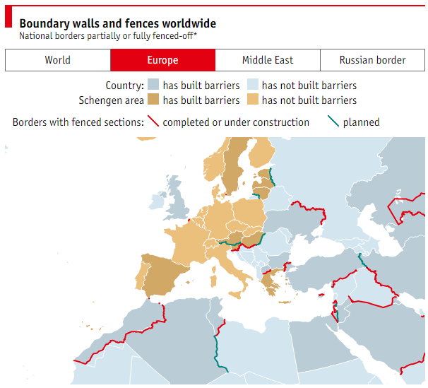 The world is building fences heres why we should worry world image the economist gumiabroncs Image collections