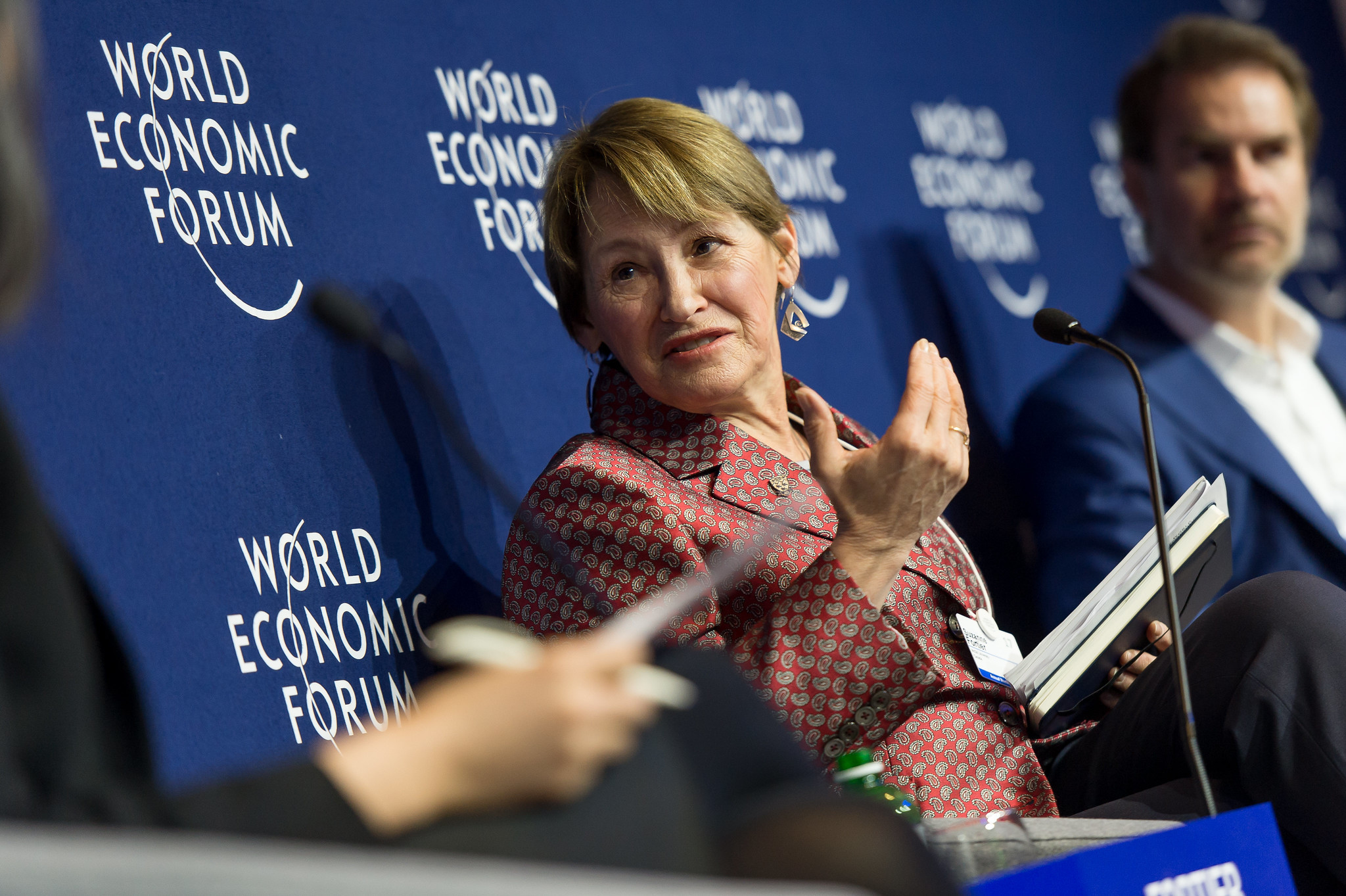 Suzanne Fortier, Principal and Vice-Chancellor, McGill University, Canada speaking during the Session: Jobs and the Fourth Industrial Revolution at the Annual Meeting 2017 of the World Economic Forum in Davos, January 19, 2017