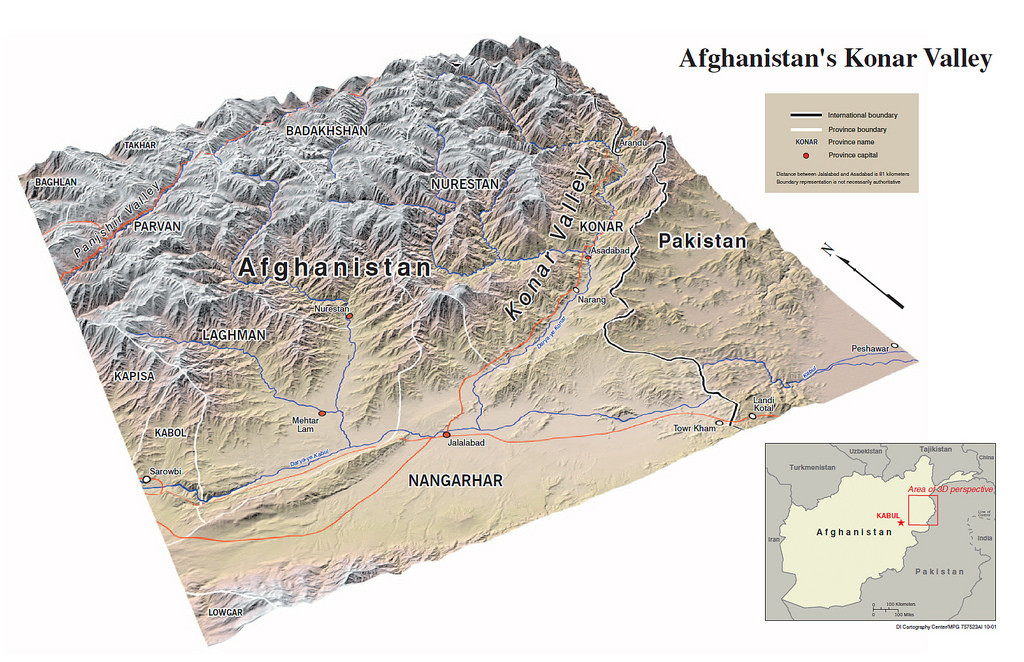 Afghanistan 3D map