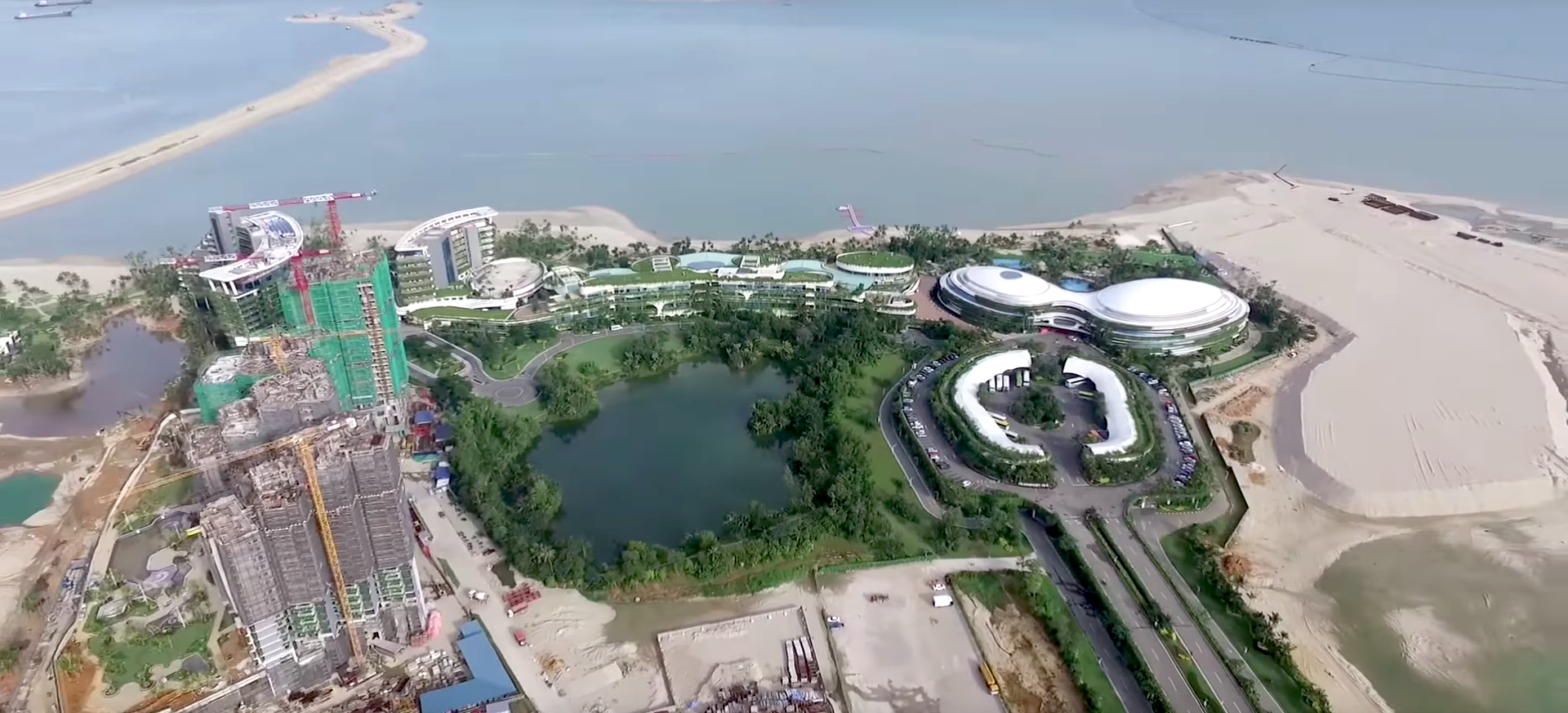 A Drone Video Of Forest City In Malaysia, Uploaded On April 22, 2017.