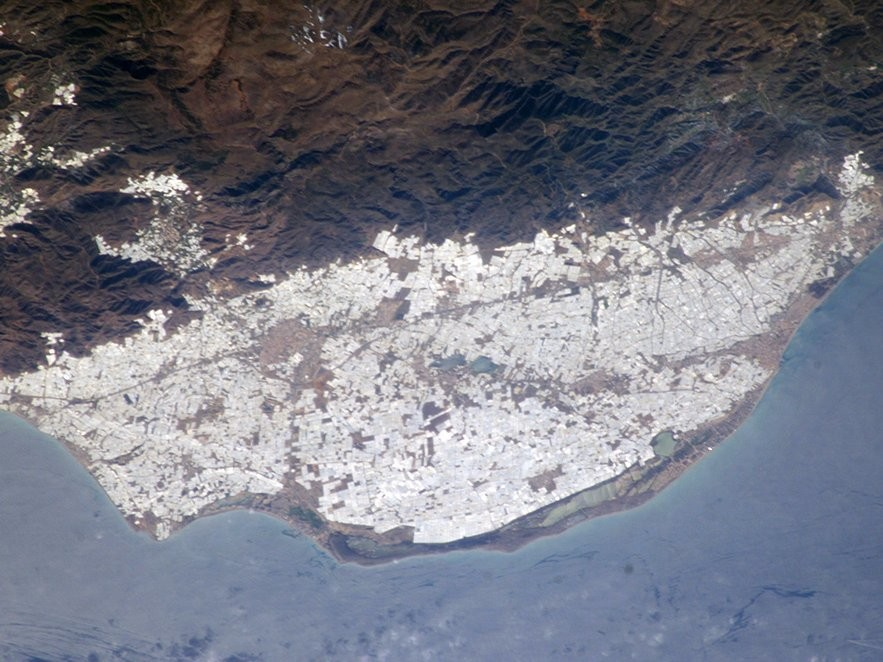 The Greenhouses at Almería from space