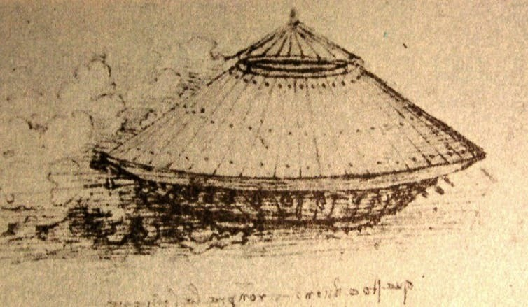 Da Vinci's prototype 'tank', drawn in the late 15th or early 16th century.