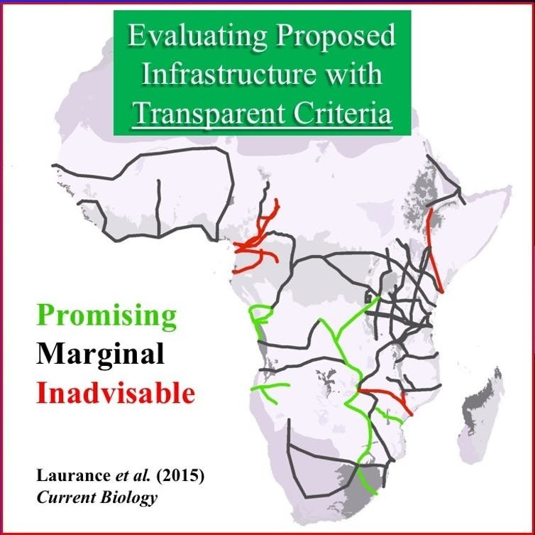 Cost-benefit assessment for 33 massive 'development corridors' that are proposed or under construction in Sub-Saharan Africa.