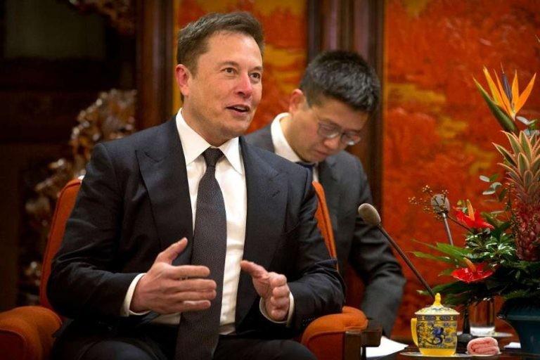 Elon Musk, PDG de Tesla, à une rencontre en janvier 2019 avec le Premier Ministre chinois Li Keqiang, absent de la photographie.