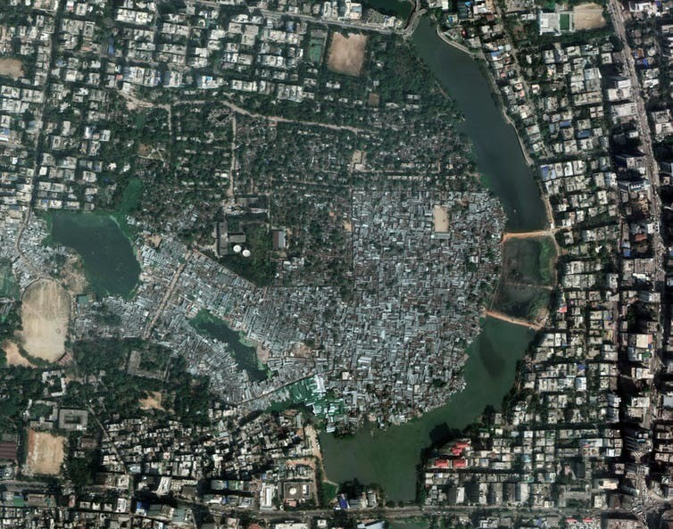 An overhead view of Karail.