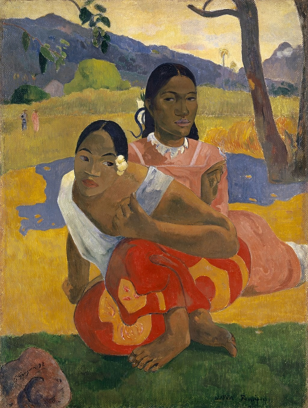 Gauguin painted Nafea Fan Ipoipo on his first visit to Tahiti in 1892
