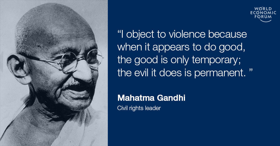 Gandhi Quotes On Peace Interesting 48 Inspiring Quotes For International Day Of NonViolence World