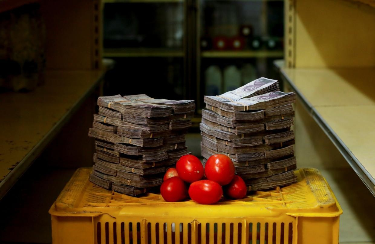 A kilogram of tomatoes cost 5,000,000 bolivares ($0.76) before Aug. 20.
