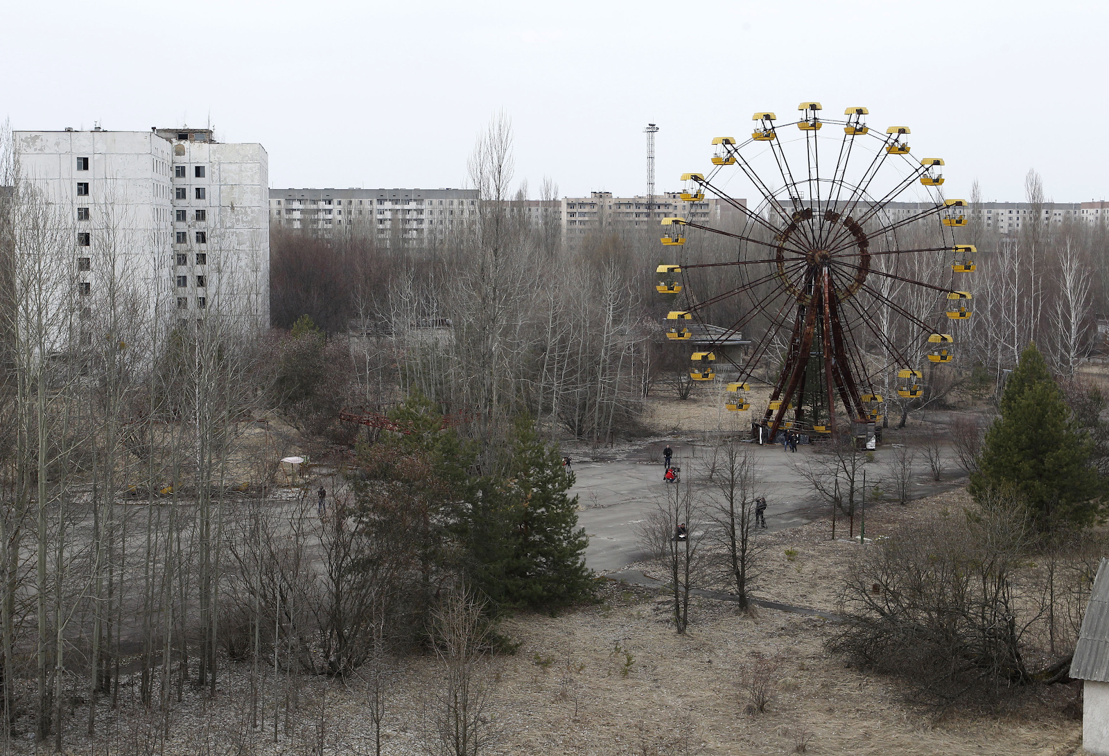 The abandoned city of Pripyat, near the Chernobyl nuclear power plant.