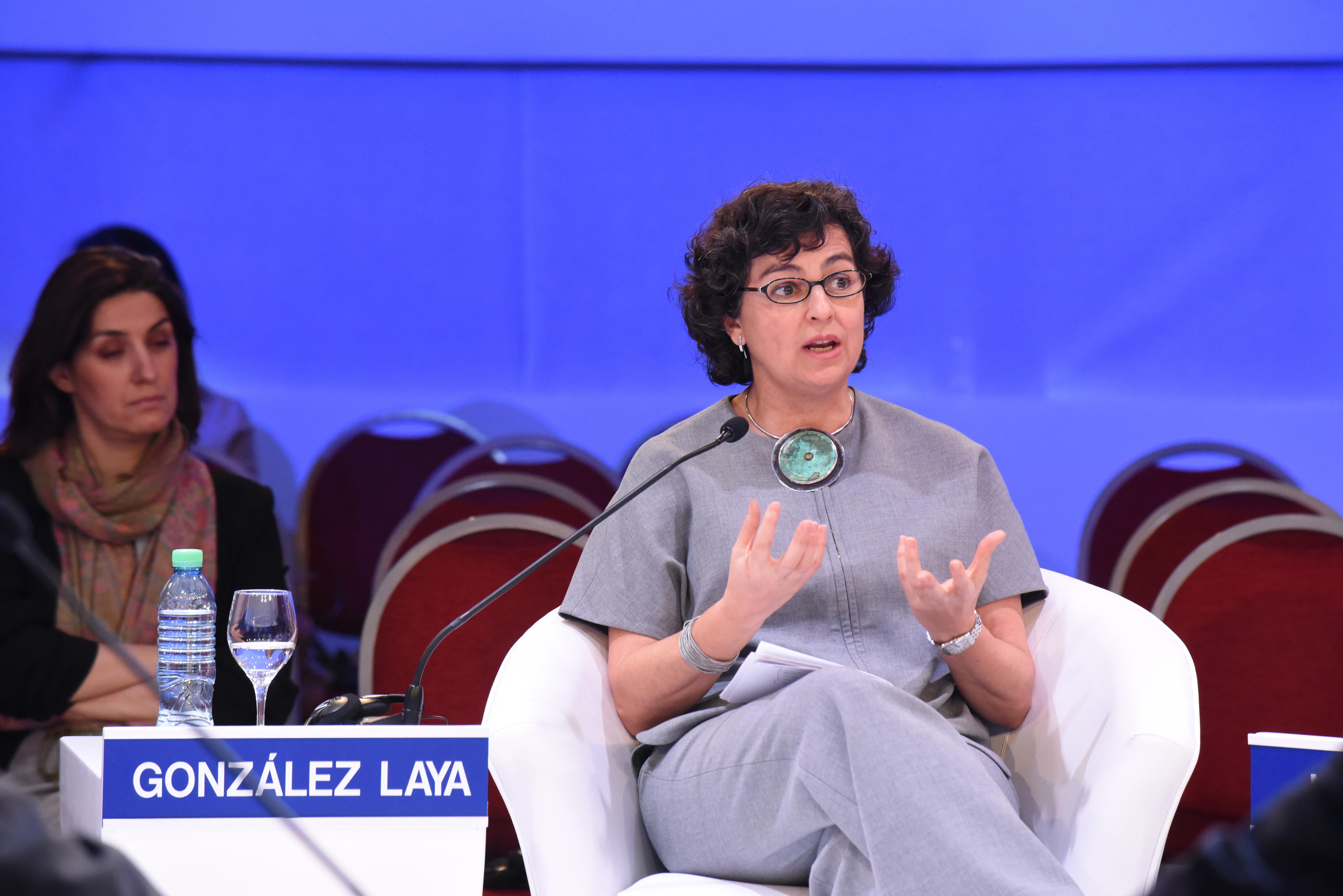 Arancha Gonzalez Laya, Executive Director, International Trade Centre (ITC), Geneva at the World Economic Forum on Latin America 2017 in Buenos Aires, Argentina. Copyright by World Economic Forum / Marcelo Bartolomé