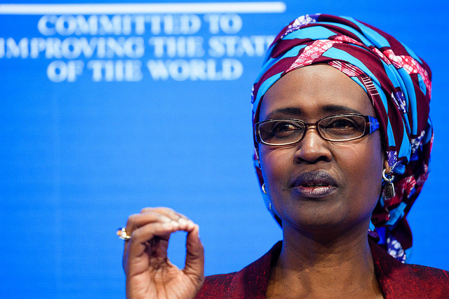 Winnie Byanyima, Executive Director, Oxfam International, United Kingdom speaking during the Session