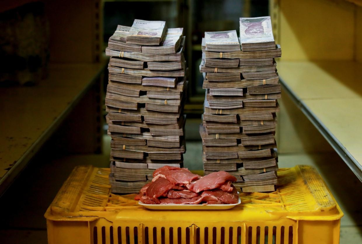 A kilogram of meat cost 9,500,000 bolivares ($1.45) before Aug. 20.