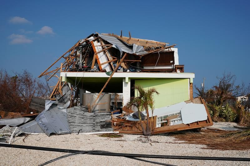 A destroyed house is pictured following Hurricane Irma in Ramrod Key, Florida, U.S., September 20, 2017. REUTERS/Carlo Allegri - RC1420FEBB80