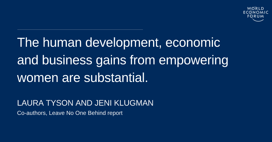 Women's economic empowerment is the right and smart thing to do. What's  stopping us? | World Economic Forum