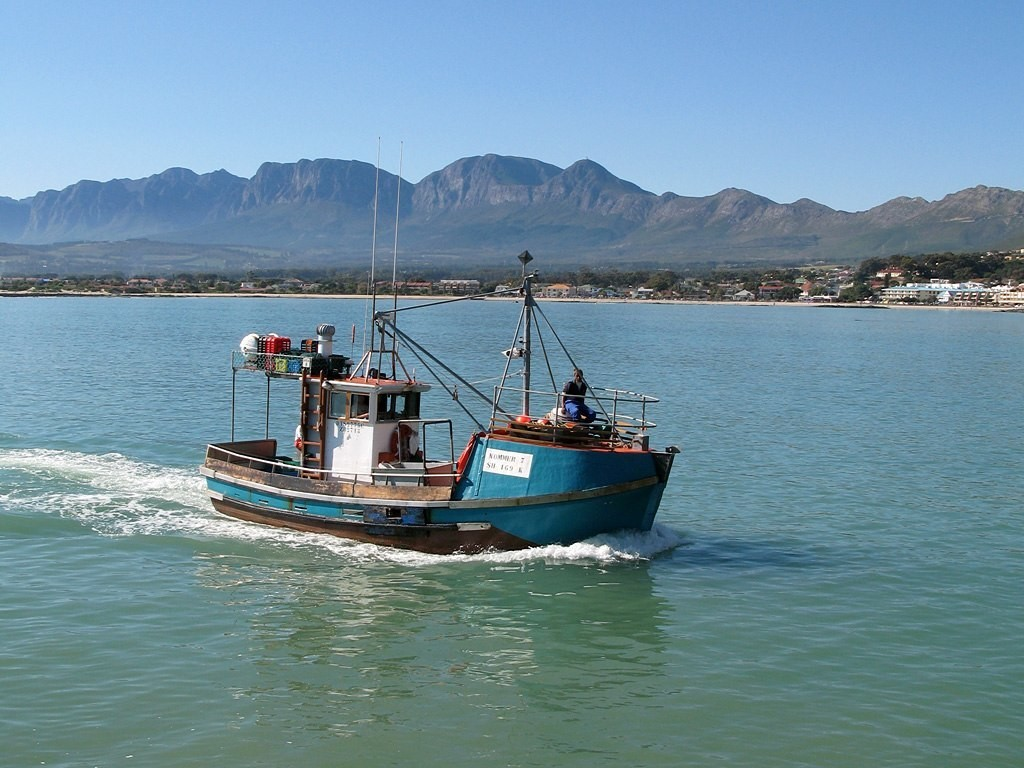 Fishing boat in South Africa.