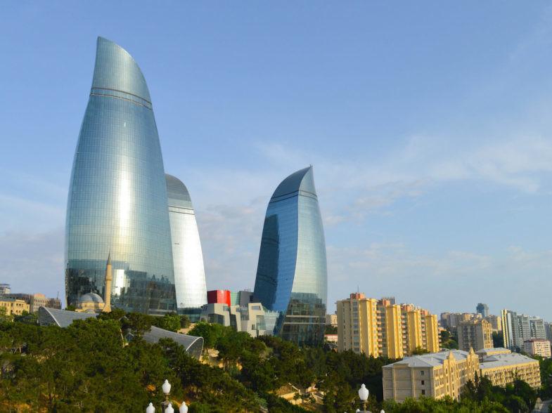Bakou, capitale de l'Azerbaïdjan.