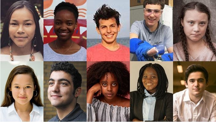 Davos teenage change-makers