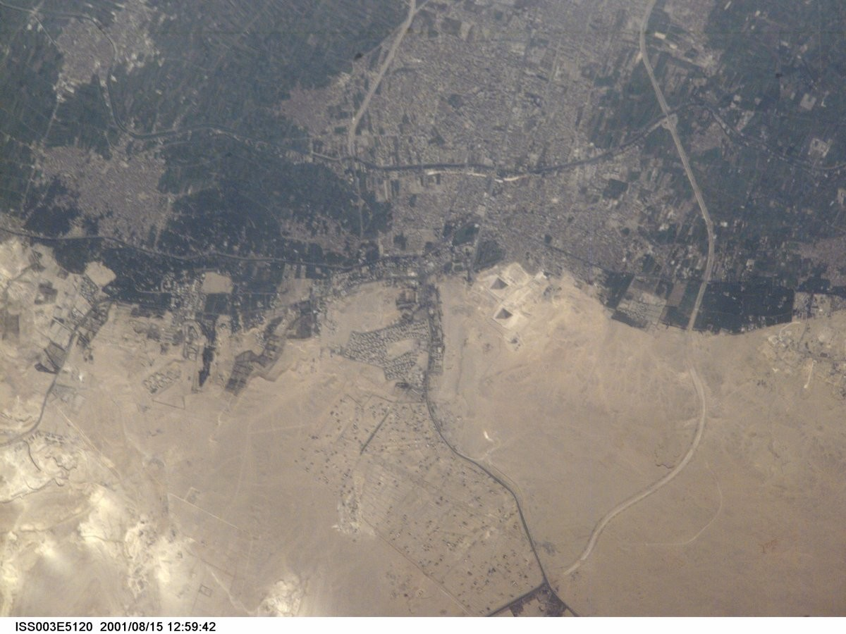 The Great Pyramids of Giza from space