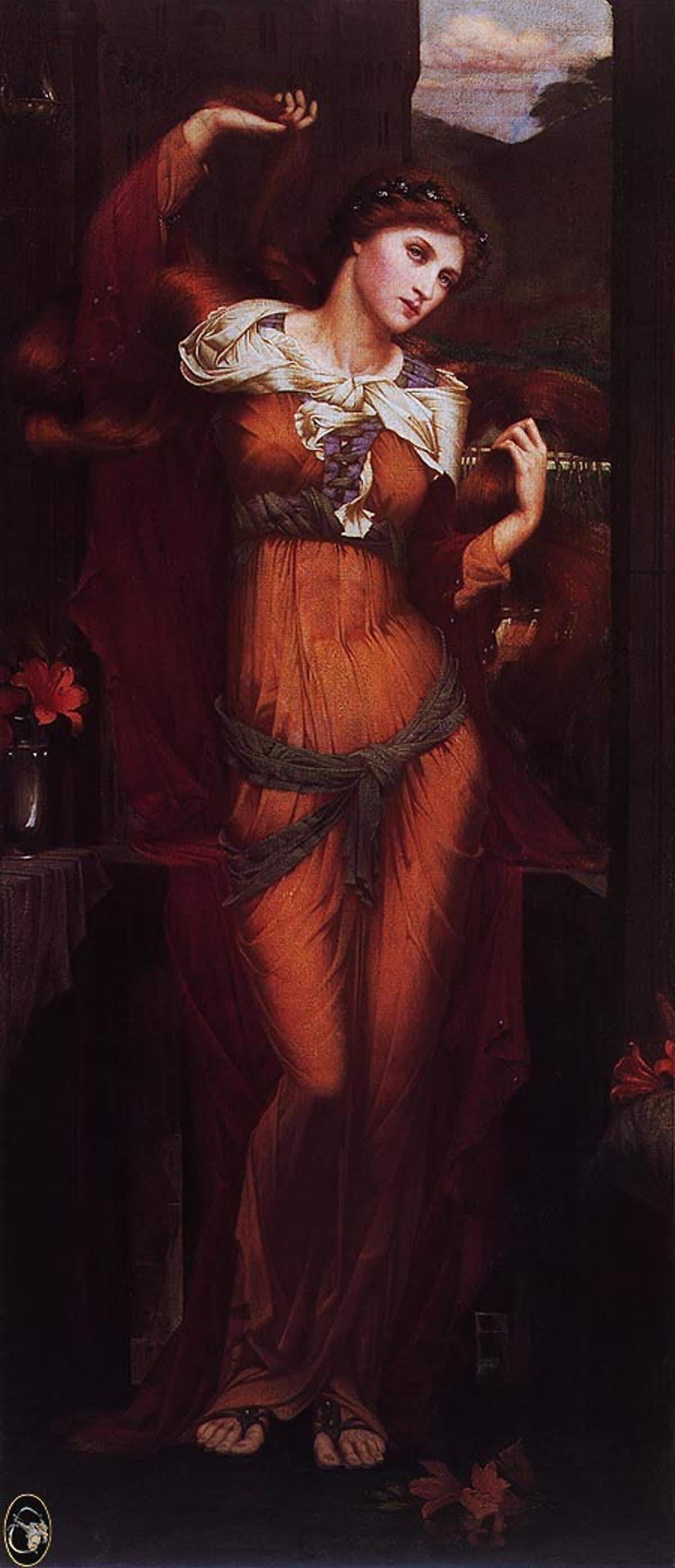 Morgan le Fay depicted as witch and temptress.