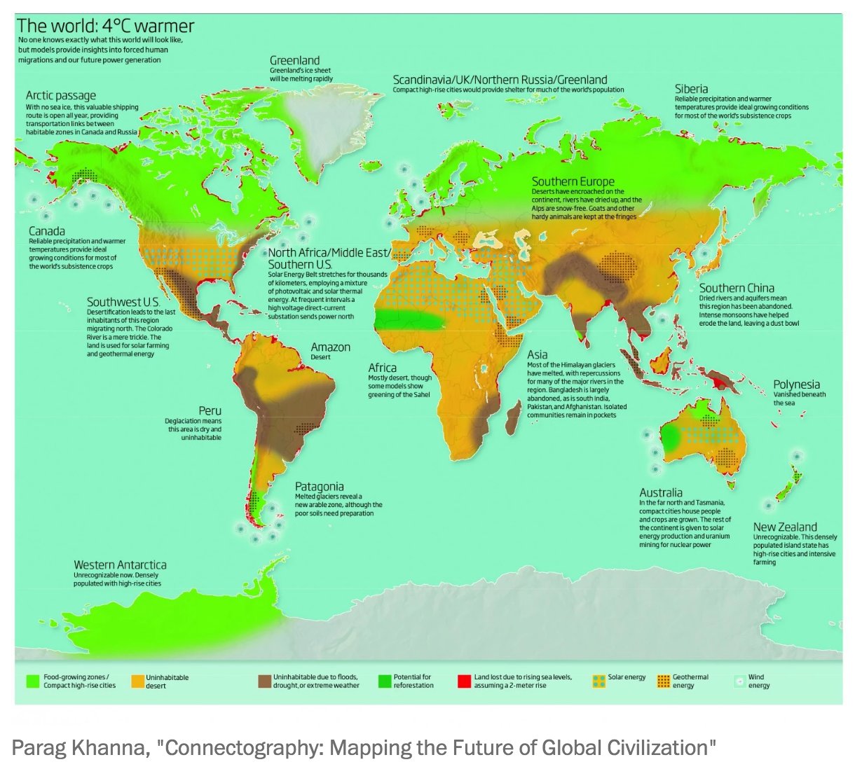 Mapping the future of the world 4 degrees warmer
