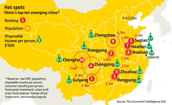 Which are chinas fastest growing cities world economic forum once reliant on state owned industry the city is now emerging as a centre for big data alibaba hosts a cloud computing facility in the city gumiabroncs Images