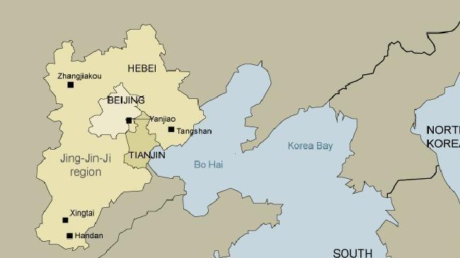 Map of JingJinJi