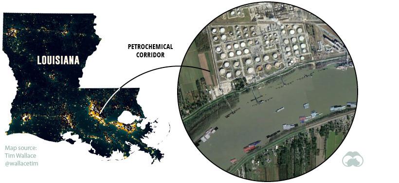 Petrochemical factory Louisiana USA