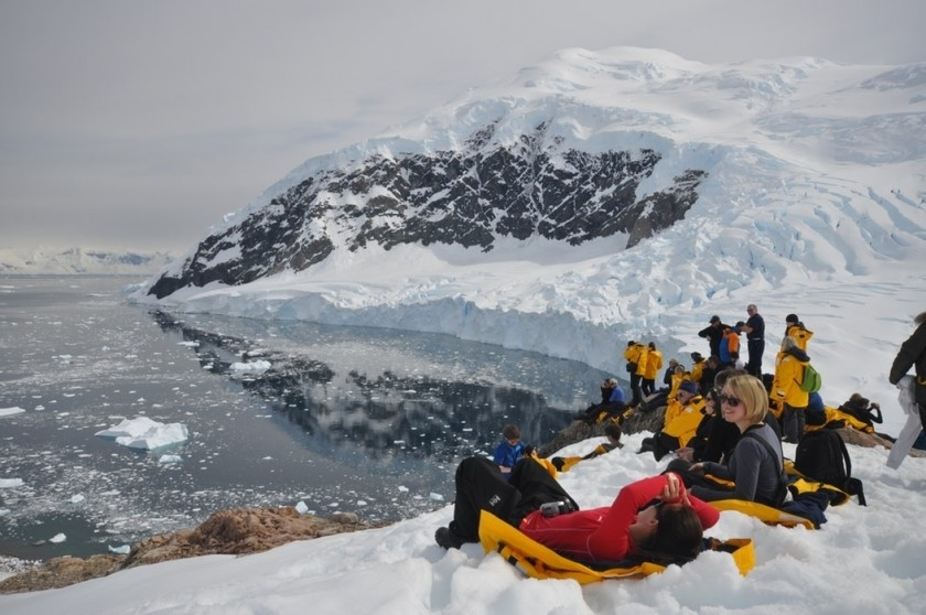Touristes en Antarctique