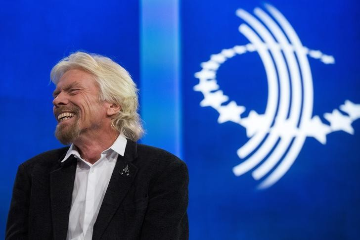 Sir Richard Branson, founder of Virgin Group and Virgin Unite, takes part in a discussion during the Clinton Global Initiative's annual meeting in New York, September 28, 2015.  REUTERS/Lucas Jackson       TPX IMAGES OF THE DAY
