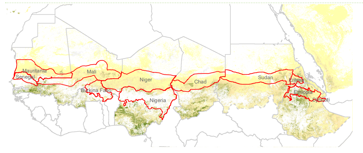 The great green wall of Africa.