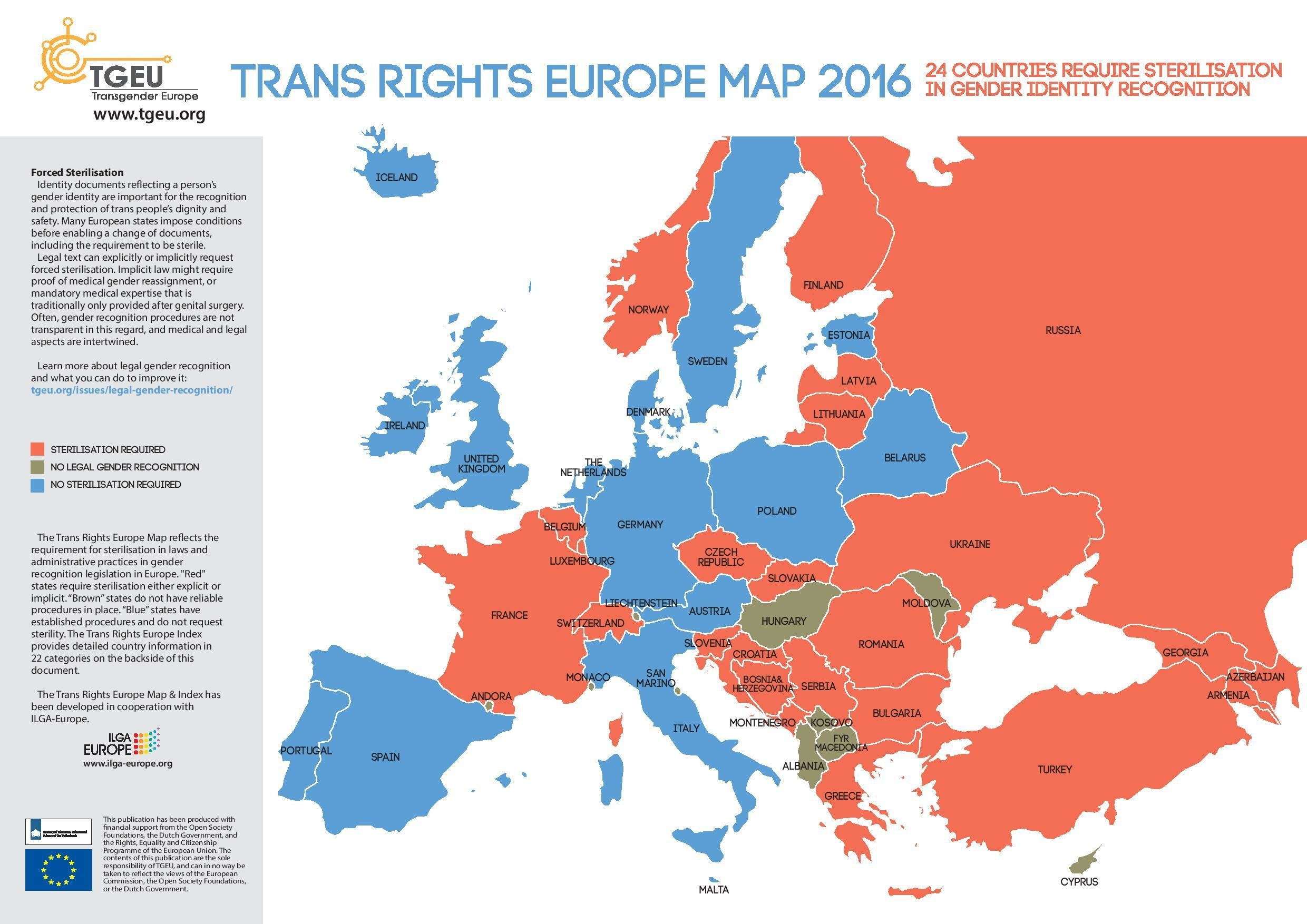 This Is What Transgender Rights In Europe Looks Like World - Transgender map of us