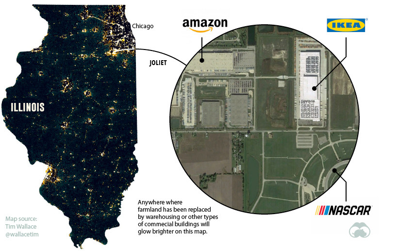 Logistics hubs Illinois