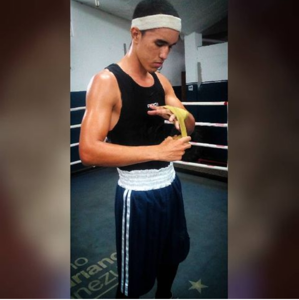pictured is boxer Eldric Samuel Sella Rodriguez, who is taking part in the Tokyo Olympics