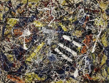Jackson Pollock's technique involved pouring and dripping paint onto canvas