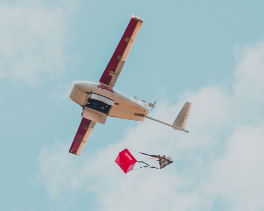 Zipline's drone.