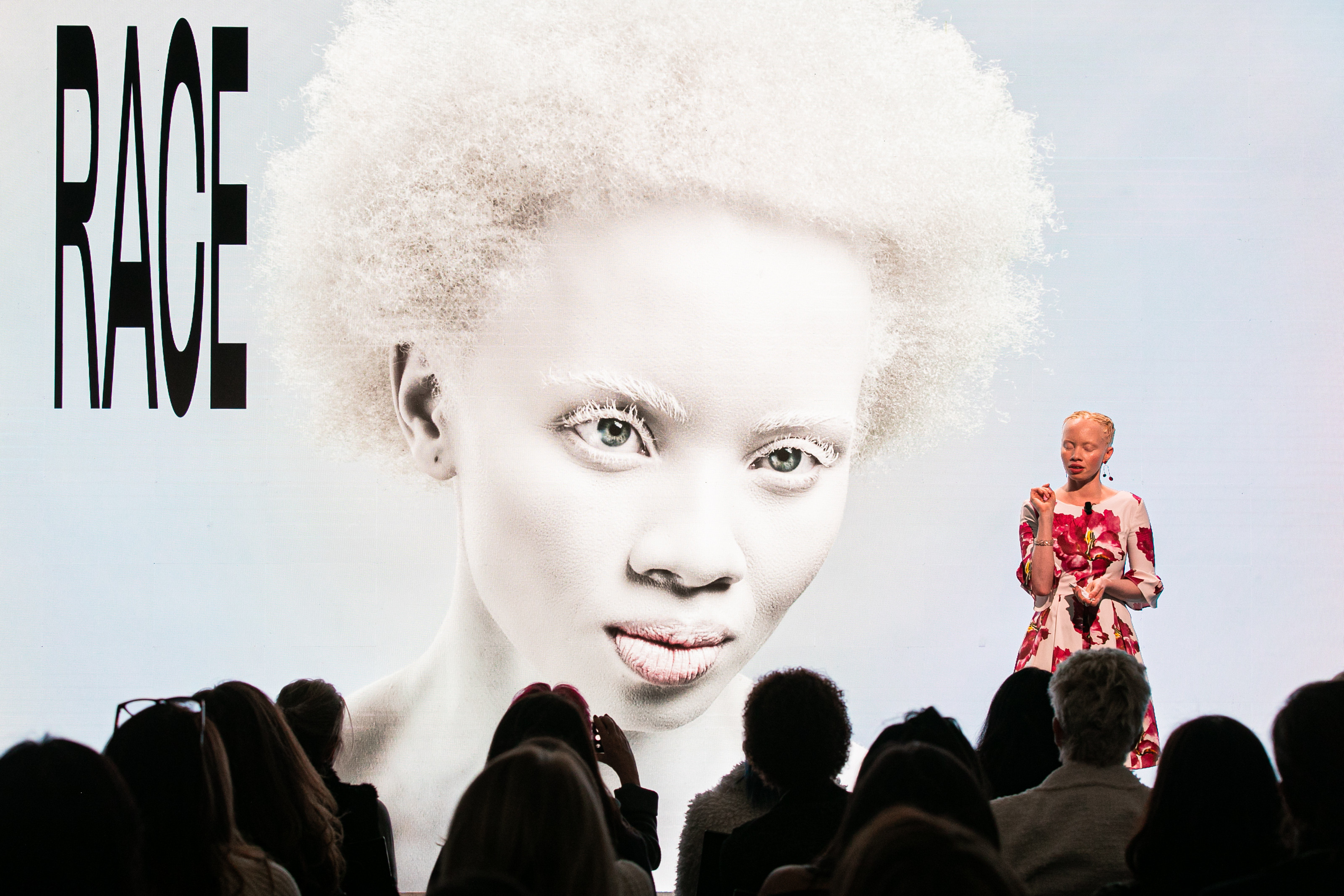 Thando Hopa, Diversity Advocate and International Model, Thando Hopa Media, South Africa; Cultural Leader, speaking during the session The Beauty of Inclusion at the World Economic Forum Annual Meeting 2020 in Davos-Klosters, Switzerland, 22nd of January. Congress Centre - in Betazone Copyright by