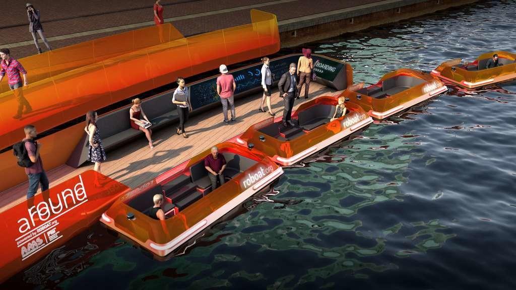 Les passagers embarqueront grâce à des rampes flottantes accolées au quai.