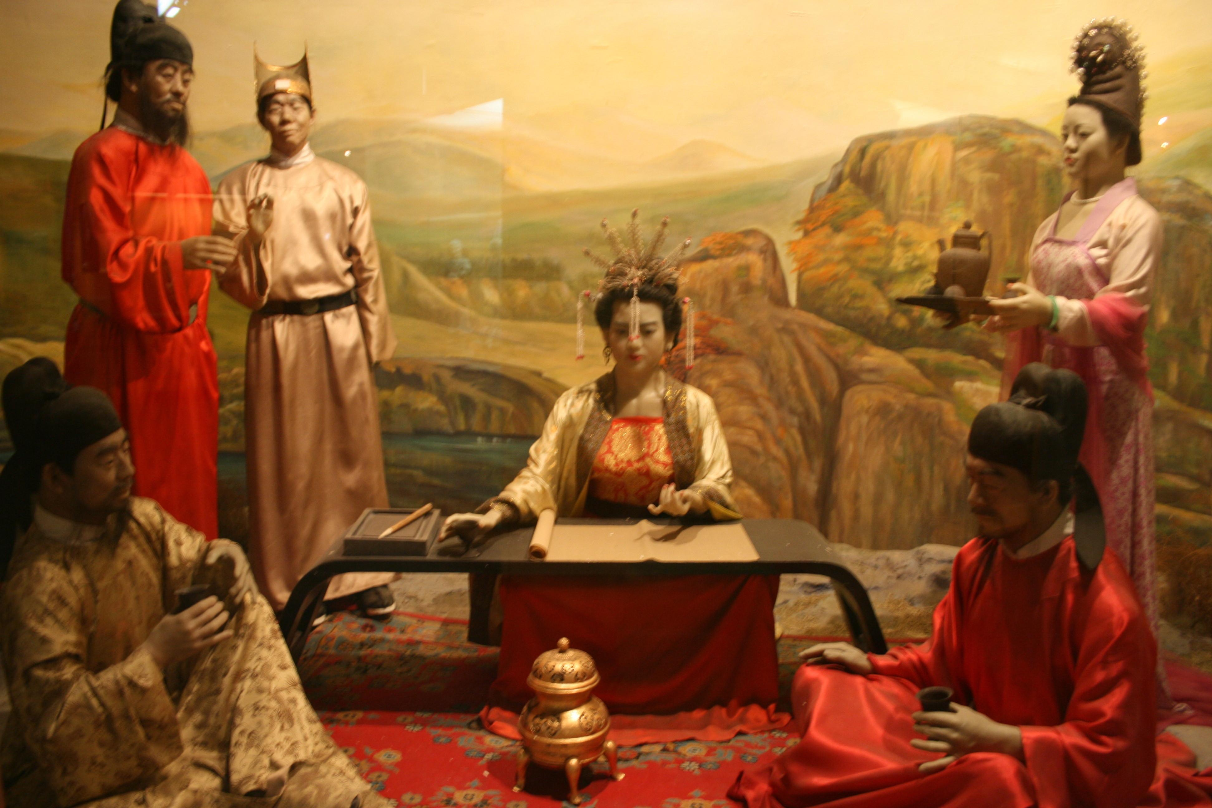 Wu Zetian diorama at Sui-Tang Gallery, Henan Provincial Museum, Zhengzhou.