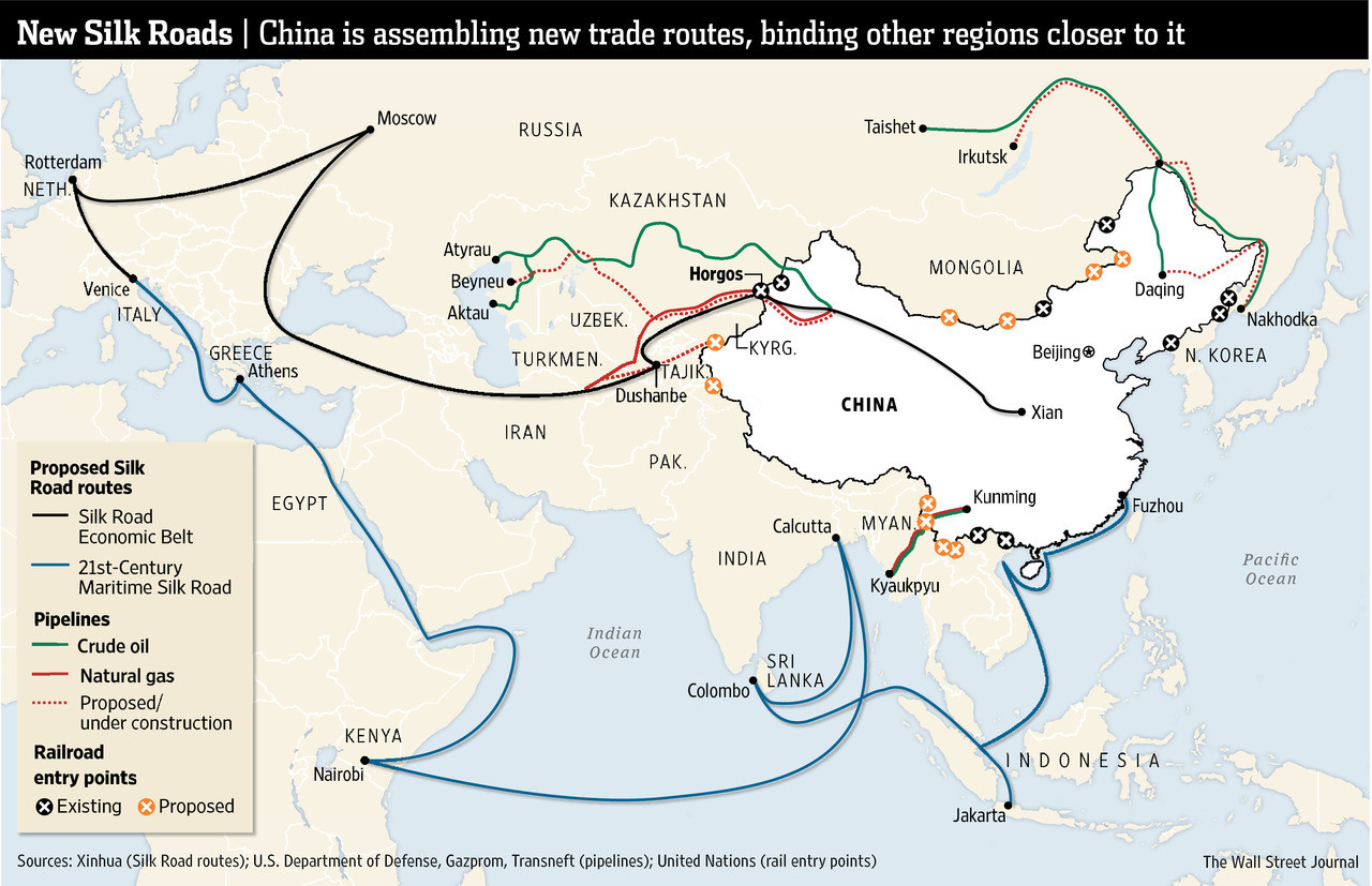Why Is China Building A New Silk Road World Economic Forum - Us new silk road map
