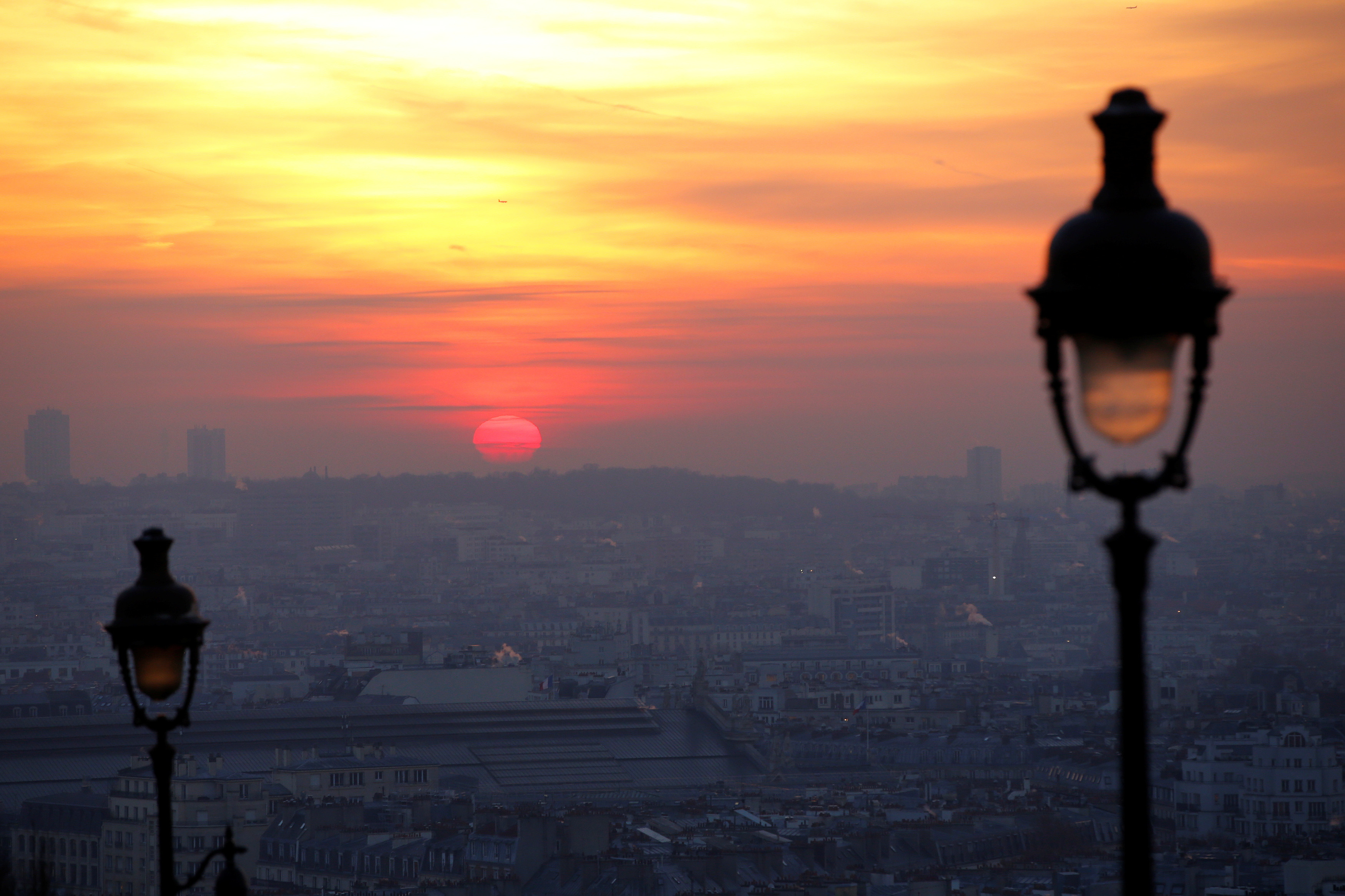 Heavy pollution in Paris – site of the historic Paris Agreement on climate change.