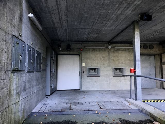 The entrance to the bunker