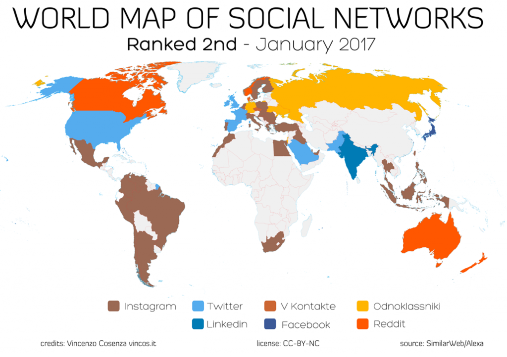 The worlds most popular social networks mapped World Economic