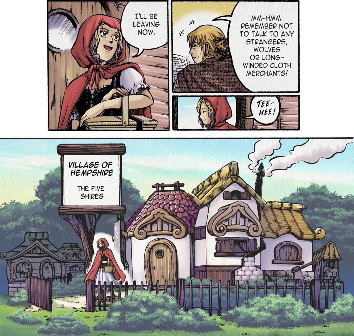 Manga-style art created by Australian comic artist Queenie Chan.