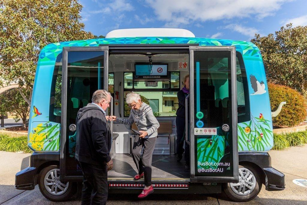 The BusBot autonomous shuttle in Coffs Harbour, Australia, is mobilizing retirement community residents.
