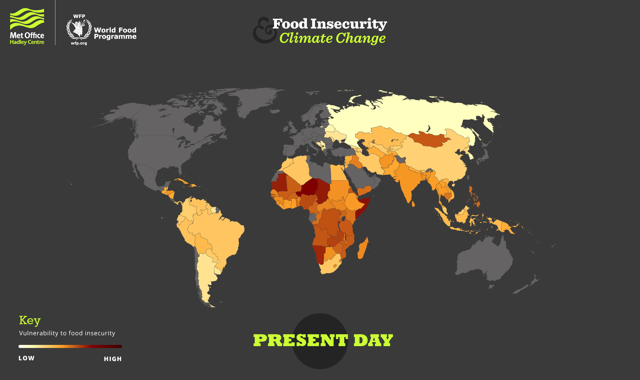 World map shows countries most at risk of food insecurity
